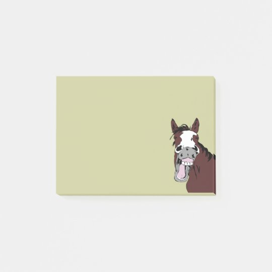 Cartoon Laughing Horse Humour Fun Office Gift Post-it