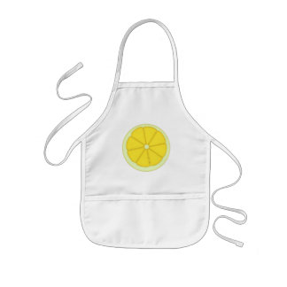 Cartoon Lemon fruit kids kitchen apron