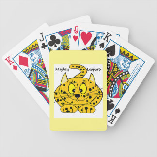 Cartoon Leopard Bicycle Playing Cards