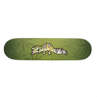 Cartoon Leopard Gecko 21.6 Cm Old School Skateboard Deck