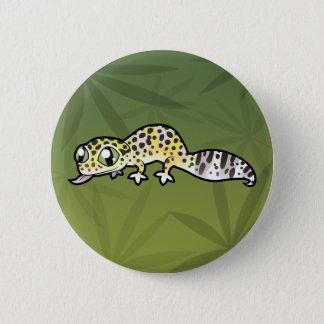 Cartoon Leopard Gecko 6 Cm Round Badge