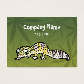 Cartoon Leopard Gecko Business Card