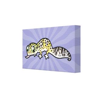 Cartoon Leopard Gecko Canvas Print