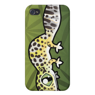 Cartoon Leopard Gecko iPhone 4/4S Cover