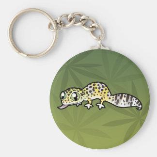 Cartoon Leopard Gecko Key Ring