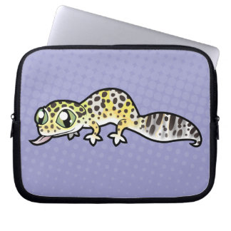 Cartoon Leopard Gecko Laptop Sleeve