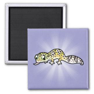 Cartoon Leopard Gecko Magnet