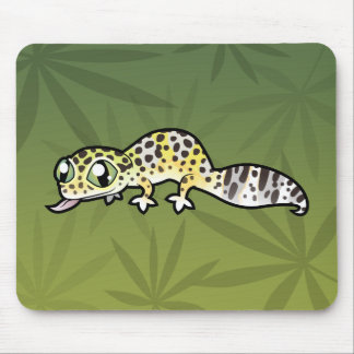 Cartoon Leopard Gecko Mouse Mat