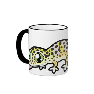 Cartoon Leopard Gecko Ringer Mug