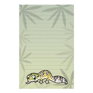 Cartoon Leopard Gecko Stationery