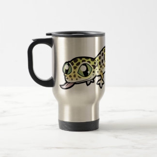 Cartoon Leopard Gecko Travel Mug
