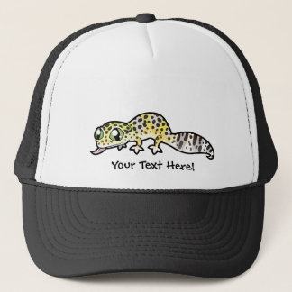 Cartoon Leopard Gecko Trucker Hat