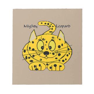 Cartoon Leopard Notepad