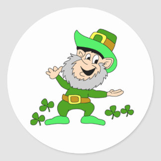 Cartoon Leprechaun Sticker
