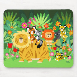 Cartoon Liger and Friends mousepad