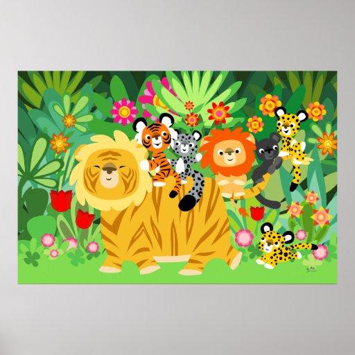 Cartoon Liger and Friends poster