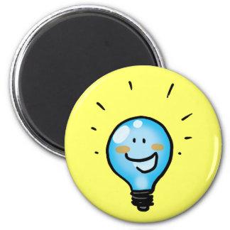 Cartoon light bulb character magnets