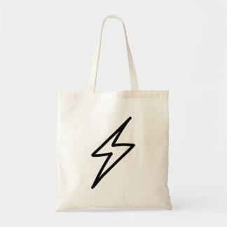Cartoon Lightning Bolt Canvas Bag