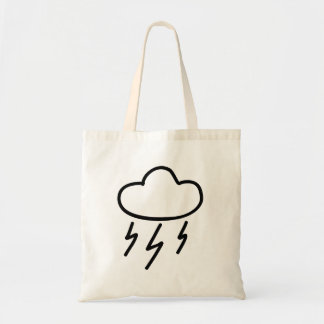 Cartoon Lightning Bolts in Cloud Canvas Bags