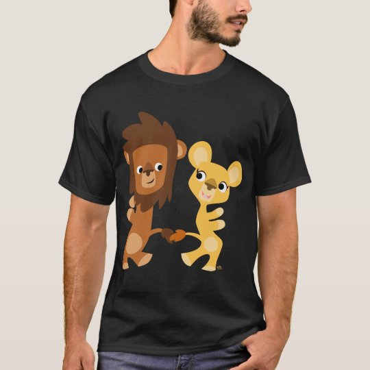 Cartoon Lion and Lioness dancing T-shirt