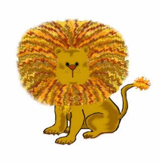 Cartoon Lion Children's Art Standing Photo Sculpture