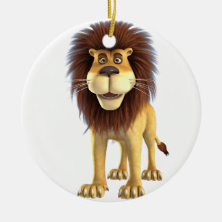 Cartoon Lion Christmas Ornament