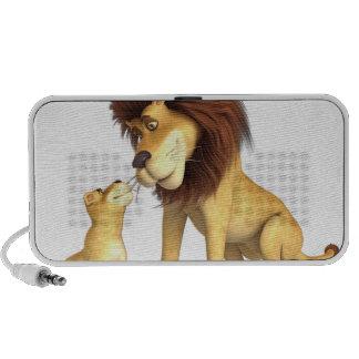 Cartoon Lion Father & Son iPhone Speaker