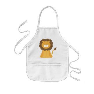 Cartoon Lion Kids Apron