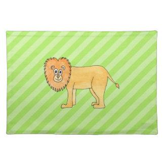 Cartoon Lion. Placemats