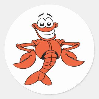 Cartoon Lobster Stickers Round Sticker