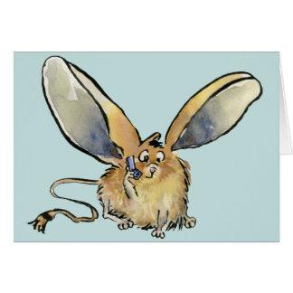 Cartoon Long Eared Jerboa Card