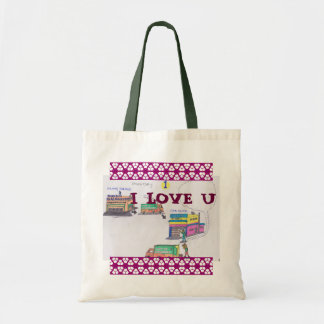 Cartoon lovely budget tote bag