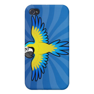 Cartoon Macaw / Parrot Case For iPhone 4