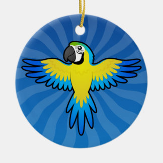 Cartoon Macaw / Parrot Christmas Ornament