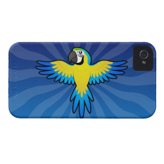 Cartoon Macaw / Parrot iPhone 4 Case