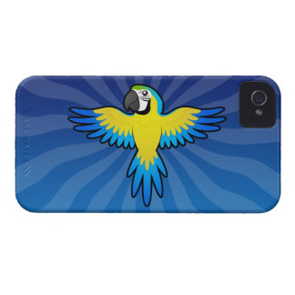 Cartoon Macaw / Parrot iPhone 4 Cover