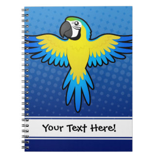 Cartoon Macaw / Parrot Note Books
