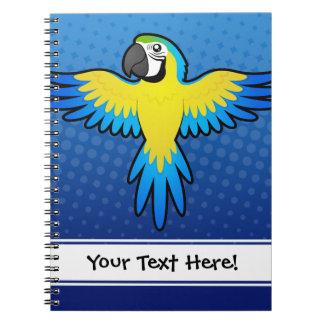 Cartoon Macaw / Parrot Notebooks