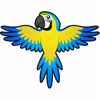 Cartoon Macaw / Parrot Photo Sculpture Magnet