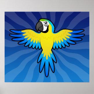 Cartoon Macaw / Parrot Poster