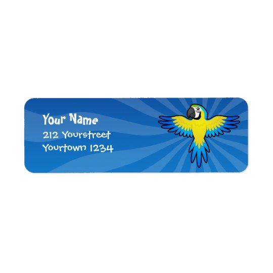 Cartoon Macaw / Parrot Return Address Label