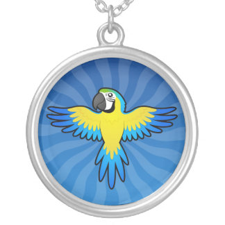 Cartoon Macaw / Parrot Silver Plated Necklace