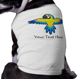 Cartoon Macaw / Parrot Sleeveless Dog Shirt