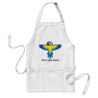 Cartoon Macaw / Parrot Standard Apron