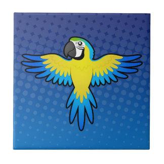 Cartoon Macaw / Parrot Tile