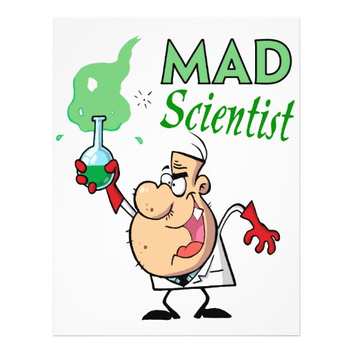 cartoon mad scientist personalized flyer