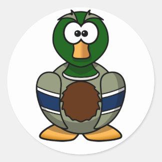 Cartoon Mallard Duck Stickers