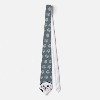 Cartoon Maltese (puppy cut) Tie