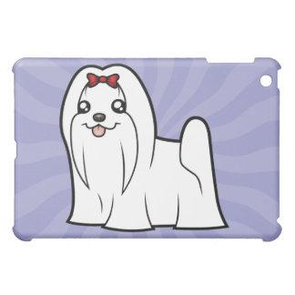 Cartoon Maltese (show cut) iPad Mini Case
