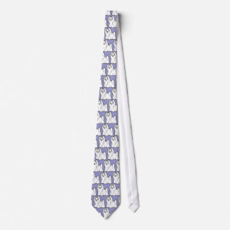 Cartoon Maltese (show cut) Tie